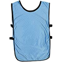 LIOOBO Hombres Camisetas de Baloncesto Chaleco de fútbol Ultra Ligero Entrenamiento Transpirable Jersey de fútbol Chaleco Ropa Azul Paquete de 6