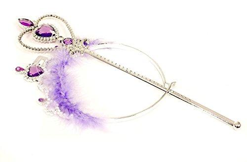 Cœur Tiara Bandeau aliceband et moelleux de baguette Violet