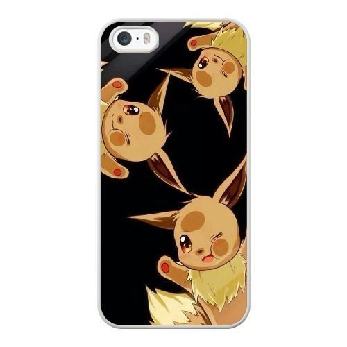 Generic Cell Phone Case for Funda iphone 5 5S SE White Adorable Eevee Q4X3GQ