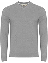 Tokyo Laundry - Pull - Pull - Col V - Manches Longues - Homme gris gris Small