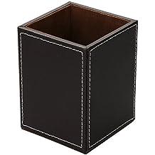 Aussel-Organizer da scrivania in ecopelle, quadrato, contenitore Organizer da tavolo per penne/matite, porta telecomando Collection-Office Desk Accessories