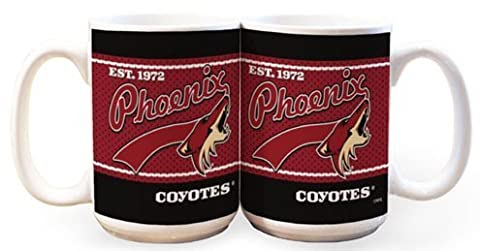 NHL Phoenix Coyotes 15-Ounce White Jersey Mug (2 Pack) by The Memory Company
