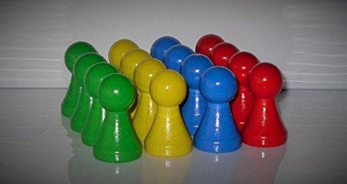 Große Halmakegel , Spielset , 16 Spielfiguren 'Maxi' - 43 mm