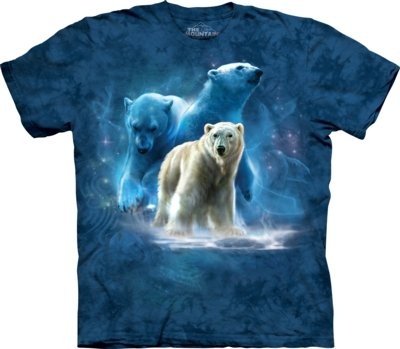 The Mountain Polar Collage Bär T Shirt Unisex Erwachsene Gr. Small, Blau - Blau
