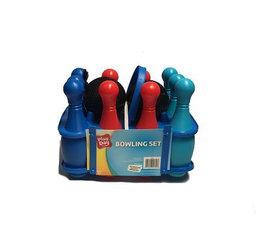 c 12 Pc. Bowling Set W/ Carrying Case Party Game Pins Balls (Bälle Walmart)