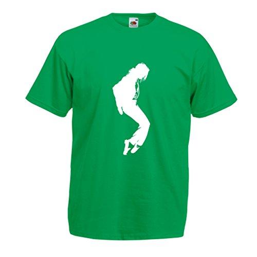 Camisetas hombre Me encanta MJ - ropa de club de fans, ropa de concierto (Medium Verde Blanco)