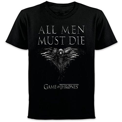 Flaschenöffner Tasche Auf Der Vorderseite (Game of Thrones - All Men Must Die Staffel 4 Cover Herren T-Shirt (Schwarz) (S-XL) (M))
