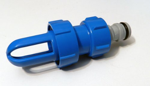 Füll- und Entleerstutzen für alle Wasserbetten, inkl. Gardena kompatiblem Anschlussadapter