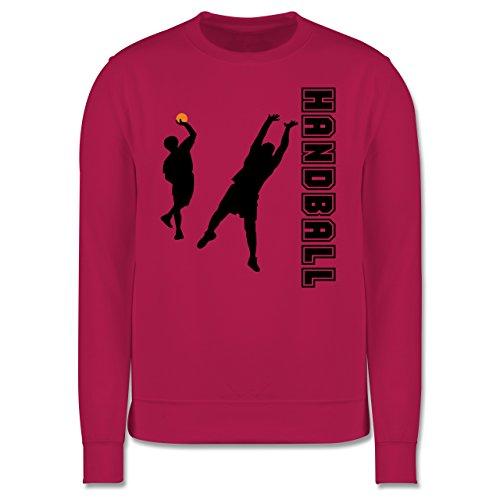 Handball - Handball Wurf Verteidigung - Herren Premium Pullover Fuchsia
