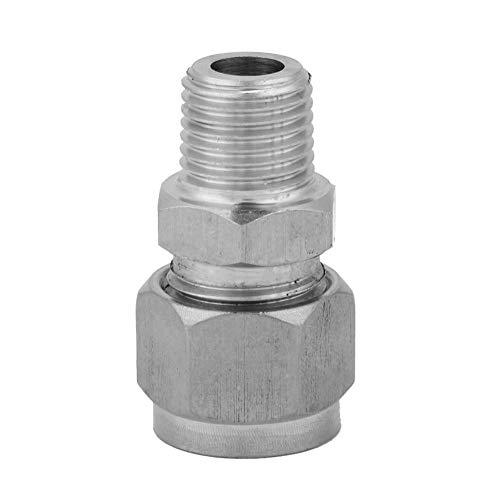 1pcs raccord de tube de compression, raccords de tuyauterie connecteur mâle en acier inoxydable ZG 304 en acier inoxydable joint droit pour virole(ZG1/4-8)