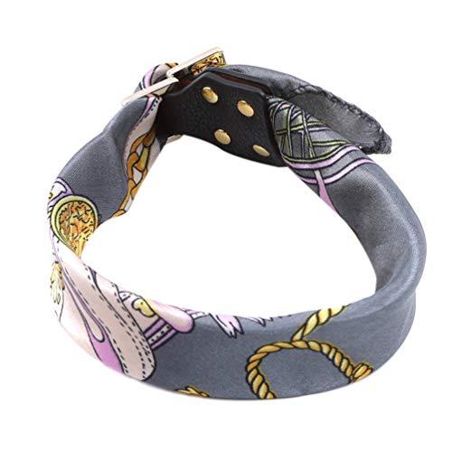 LWANFEI Schal Schnalle Armband Böhmischen Manschette Wrap Bangle Kette Druck Schnalle Armband für Frauen Schmuck, Grau -