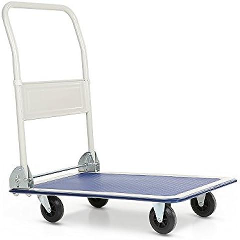 IKAYAA PH1501 - Carro Plataforma de Trabajo Pesado Plegable para Transporte de Jardín Industria (De Acero,Capacidad Max.150KG,4