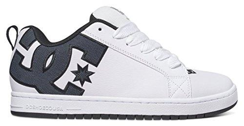 DC Herren Court Graffik S Sneaker, Weiß (White Smooth), 45 EU (Schuh Skate Se Net)