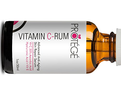 Protege Beauty Vitamin c-rum Serum Vitamin C für Gesicht 20% Ascorbinsäure + Hyaluronsäure + Vitamin E 30ml (Natürliches Vitamin Potenz)