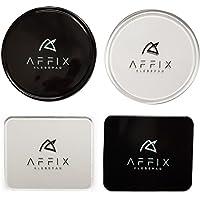 AFFIX Klebepad 4er super klebrig, besserer starker Halt als andere Anti-Rutsch-Pad, fixate Gel Pad Klebepads kleben auf sämtlichen Oberflächen,gut für Armaturenbrett und Wandhalterung
