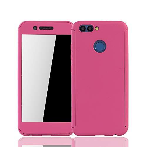 König Design Huawei Nova 2 Handy-Hülle Schutz-Case Full-Cover 360 Rundum Schutz 9H Panzer Schutz Glas Pink