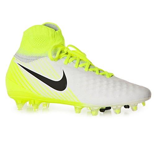 Nike Crianças Unisexo Jr Magista Obra Ii Fg Futebol Branco (branco / Preto Volts Puro Platina)