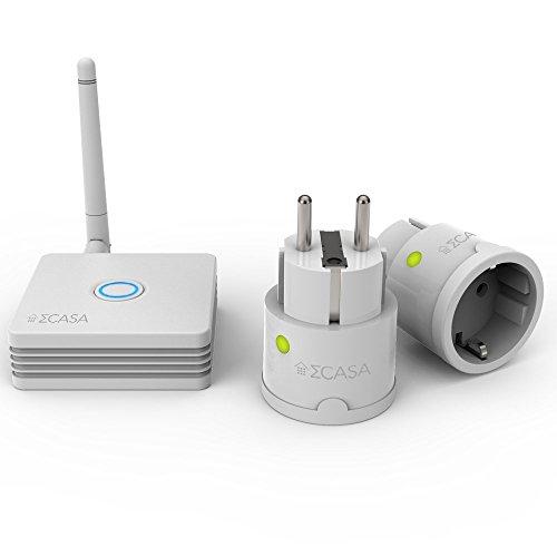Sigma Casa Smart Power Kit - Einstieg für Smart-Home Haus-Automatisierung mit Smart Gateway und 2x Smart Power Plug - intelligente Steckdose (Messung Energieverbrauch) als Zeitschaltuhr oder zur Fern-Steuerung Ihrer Haushaltsgeräte