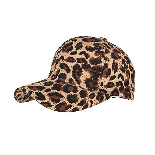 JKYJYJ Frühling/Sommer Leopard-Baseballmützen Cotton Visor Baseball Cap Men Casquette Femme Leopard-visor