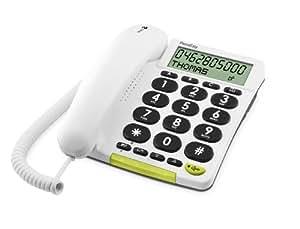 DORO PhoneEasy 312ci Téléphone filaire avec identification de l'appelant Touches extra-larges blanc