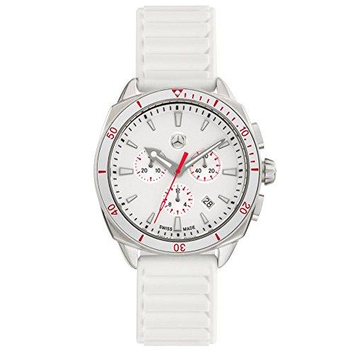 Mercedes-Benz ' Original Sport Fashion Chronograph Women's Watch White/Silver/Red