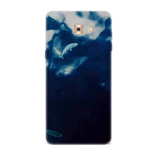 Samsung C9 Case, Samsung C9 Hard Protective SLIM Printed Cover [Shock Resistant Hard Back Cover Case] for Samsung C9 - Water Lake Fish Nature Indigo Blue  available at amazon for Rs.299