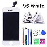Htechy Écran de Remplacement pour iPhone 5s Ecran Blanc vitre Tactile LCD Ecran...