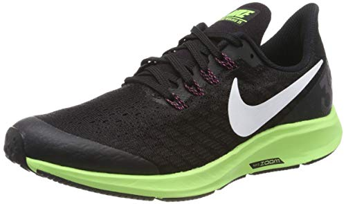 Nike Air Zoom Pegasus 35 (GS), Zapatillas de Running para Niñas, Negro (Black/White/Burgundy Ash/Lime Blast 016), 33 EU