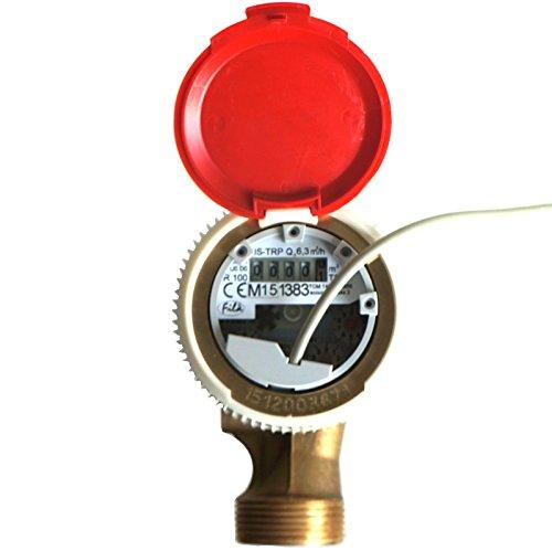 Preisvergleich Produktbild Ferro Smart Hot Wasserzähler mit Reed-Schalter Pulse Emitter 6,3M3/H antimagnetisch