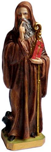 Estatua de resina de San Benito de Nursia 16cm
