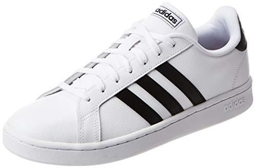 adidas Mens Grand Court Sneaker, Cloud White/Core Black/Cloud White, 42 2/3 EU
