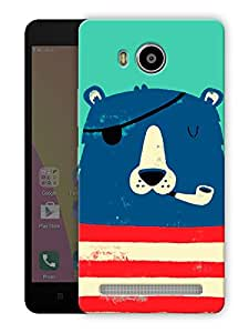 "Humor Gang bear smoking cigar Printed Designer Mobile Back Cover For ""Lenovo A7700"" (3D, Matte Finish, Premium Quality, Protective Snap On Slim Hard Phone Case, Multi Color)"