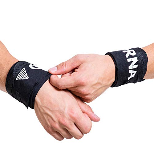 Gornation Calisthenics Bandagen Handgelenke Stabilität für Street Workout Handgelenkbandagen Wrist Wraps Turner Turnen (Black/Black)