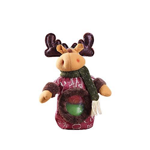 Meigold Stereo Puppe Tasche für Süßigkeiten Apfel Geschenk Aufbewahrung Dekoration Elk -