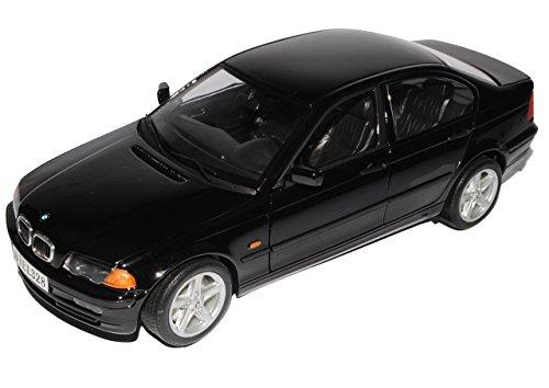 Unbekannt B-M-W 3er E46 328i Limousine Schwarz 1998-2007 1/18 Welly Modell Auto mit individiuellem Wunschkennzeichen (Bmw Modellauto 2002)