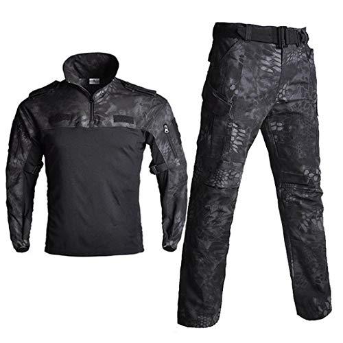 JUNSHIFU Taktische Tarnung Militäruniform Kleidung Frosch Anzüge Männer Jagd Trainingsanzug Black Python M