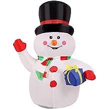 Anself - 120cm Muñeco de nieve inflable para la decoración navideña ...