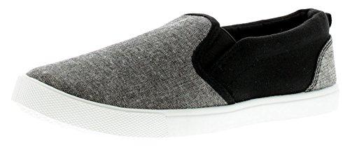 d0f09395ef5664 Rockstorm Liam Jungen Segeltuch Schuhe Grau - Grau - UK Größen 1-13 - Grau