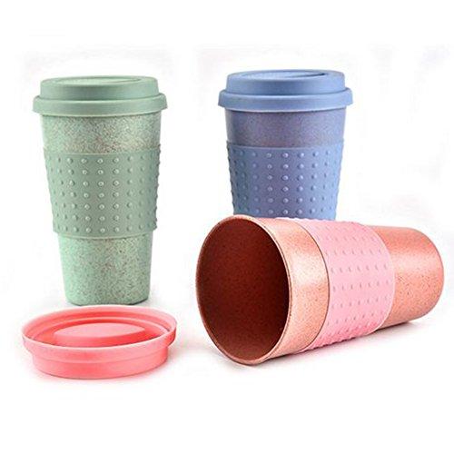 Thermo Isolierte Tee Kaffee Tasse mit Deckel Travel Takeaway Eco Tasse Free Size grün