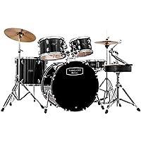 Mapex Tornado 2 Drum Kit with Cymbals - 22 Kick Rock Fusion - Black