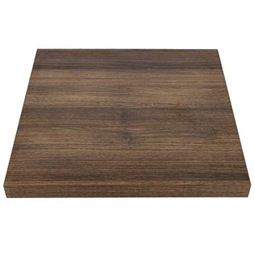 Bolero GR330tablero de la mesa, 48mm, 700mm, cuadradas, (madera de roble), estilo rústico