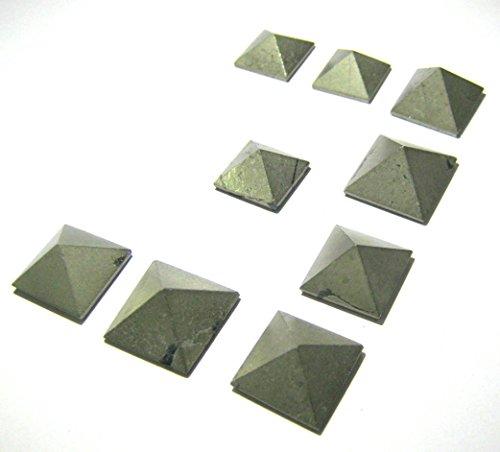 Minipirámides cristal curación pirita oro 9 años