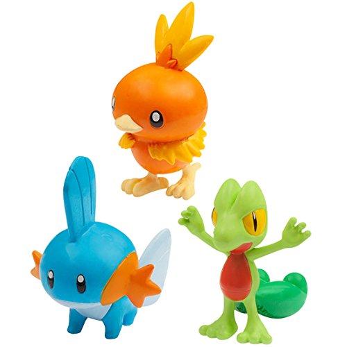 Pokemon Monster Collection EX 20th Anniversary 3 Pokemon of the Journey (Torchic , Mudkip, Treecko) (Flemmli, Hydropi, Geckarbor) Vol.3 The Hoenn Region - Hoenn Pokemon