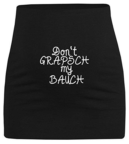Schwangerschaftsbauchband lustiger Spruch Don´t grapsch my Bauch