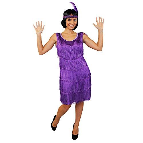 I love Fancy Dress ilfd4611l Deluxe Damen 1920er FLAPPER Kleid mit passendem Kopfschmuck (groß) (Roaring 20s Kostüm Kleider)