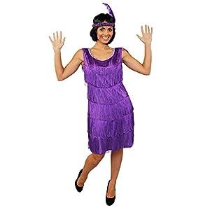 I Love Fancy Dress ilfd4611l Ladies Deluxe vestido de charlestón con diadema a juego (tamaño grande)