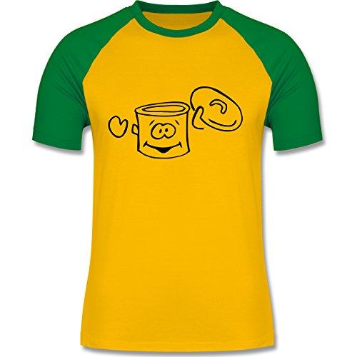 Küche - Kochtopf - zweifarbiges Baseballshirt für Männer Gelb/Grün