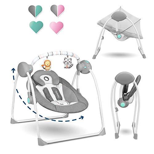 Imagen de Sillas Mecedoras Eléctrica Para Bebés Lionelo por menos de 80 euros.