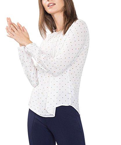 ESPRIT Collection 106EO1F019, Camicia Donna, Bianco (Off White), 42