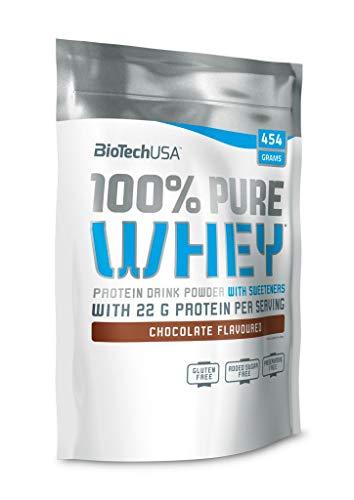 Biotech USA 100% Pure Whey Protein, 454g Beutel , neutraler Geschmack (2er Pack)